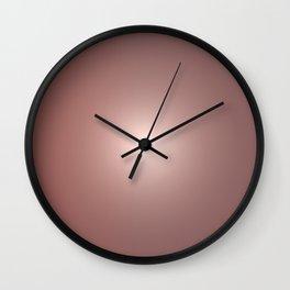 Rose Gold Gradient Wall Clock