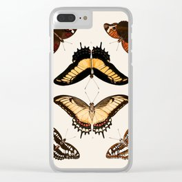 Vintage Butterfly Chart II Clear iPhone Case
