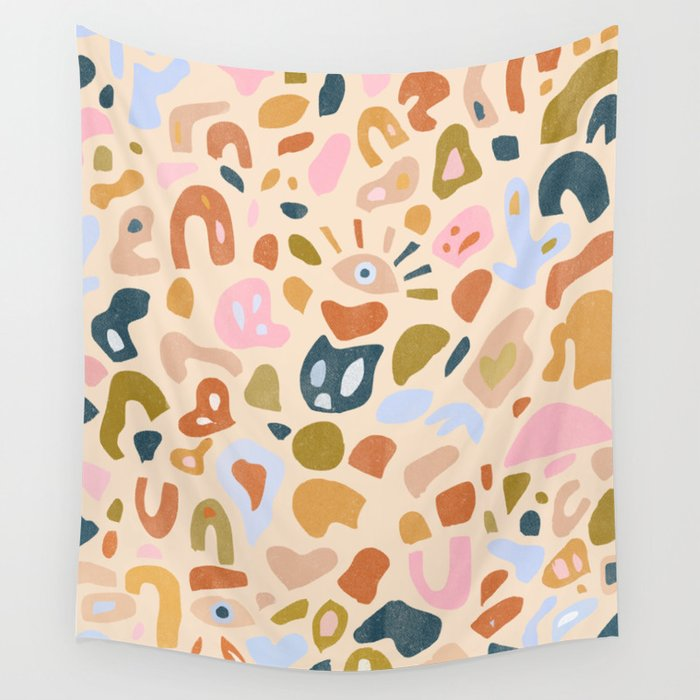 Abstract Paper Cuts Wall Tapestry