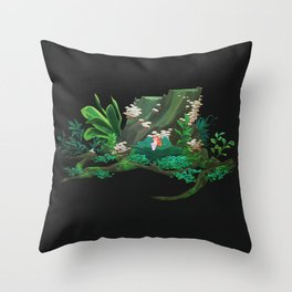 faerie sprout Throw Pillow
