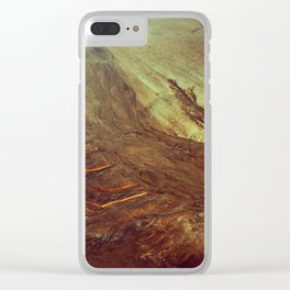 Sand Water Tree Clear iPhone Case