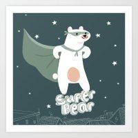 superbear Art Print