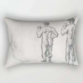 Standing Male Bather; Puget's Atlas Rectangular Pillow