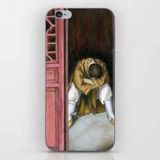 praying chinese monk iPhone & iPod Skin