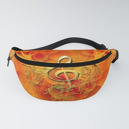 Clef with flowers Fanny Pack