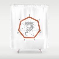 roman Shower Curtains featuring Roman Numerals by Javier Montañés