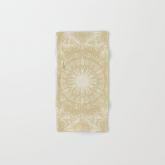 Peaceful kaleidoscope in beige Hand & Bath Towel