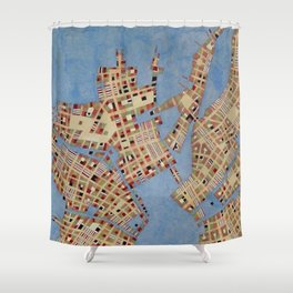 Cipher n. 16 Shower Curtain