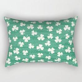 DANCING SHAMROCKS on green Rectangular Pillow