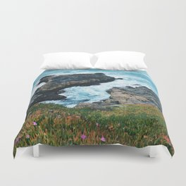 Standing on a Cliff Duvet Cover