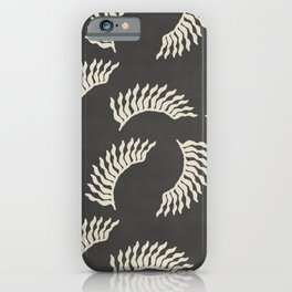 When the leaves become wings - Gray and beige iPhone Case