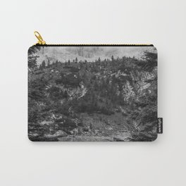 Between Pine (Black and White) Carry-All Pouch