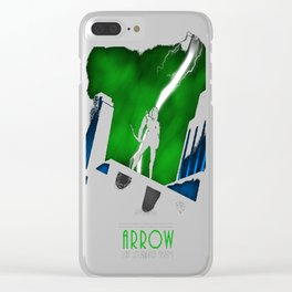 Arrow The Animated Series Clear iPhone Case