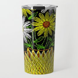 String Art Flowers Travel Mug