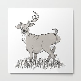 A Picture of a Deer Metal Print