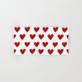 Heart love valentines day gifts hearts with faces cute valentine Hand & Bath Towel