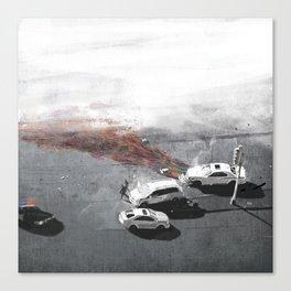 Crashlines Canvas Print
