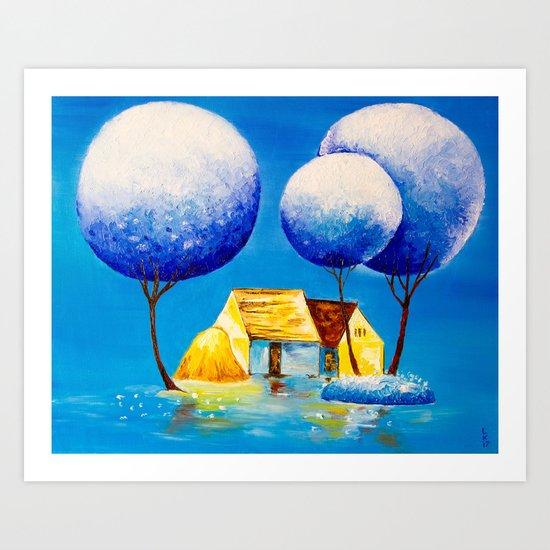 Fairy village Art Print