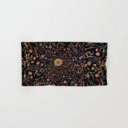 Medieval Flowers on Black Hand & Bath Towel