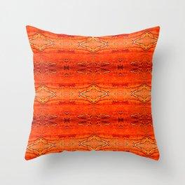 Orange Aztec Pattern 2 Throw Pillow