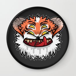 Diabolical Fuzzball (tiger) Wall Clock