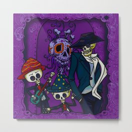 Day of the Dead Celebration (Painting) Metal Print