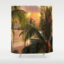 Kauai Tropical Island by OLena Art Shower Curtain