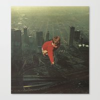 houston Canvas Prints featuring houston by Jesse Treece
