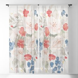 Loose Bouquet no. 2 Sheer Curtain