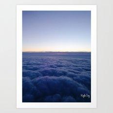 Clouds Above Art Print