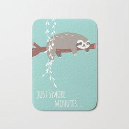 Sloth card - just 5 more minutes Bath Mat