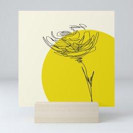 line drawing - flower Mini Art Print