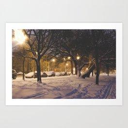 Calm Wintry Eve Art Print