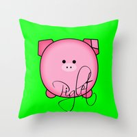 piglet Throw Pillows featuring Piglet by Miaa