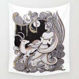 Waiting-women Wall Tapestry