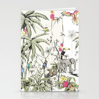 jungle Stationery Cards featuring Jungle by Annet Weelink Design