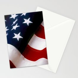 Waving American Flag Stationery Cards