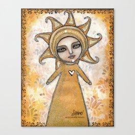 Shine Girl Mixed Media Print Canvas Print