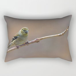Early Spring Goldfinch Rectangular Pillow