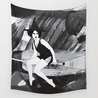 witch Wall Tapestries featuring Witch by Inbeeswax