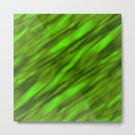 A gloomy cluster of green bodies on a dark background. Metal Print