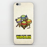 ninja turtles iPhone & iPod Skins featuring Kawaii Mutant Ninja Turtles by Squid&Pig