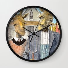 American Giraffic Wall Clock