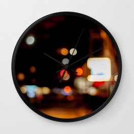 Bubbles of Light in the Night, B Wall Clock