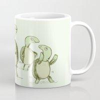 turtles Mugs featuring Dancing Turtles by Sophie Corrigan