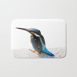 A Beautiful Kingfisher Bird Vector Bath Mat