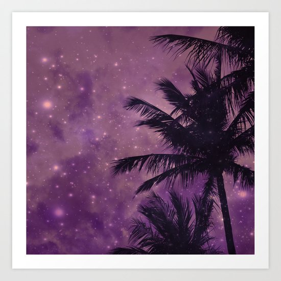 Purple Sky Palm Art Print