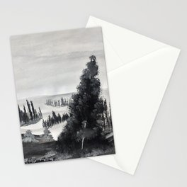 A gray morning Stationery Cards