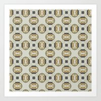 yellow pattern Art Prints featuring yellow by HeidiVaught