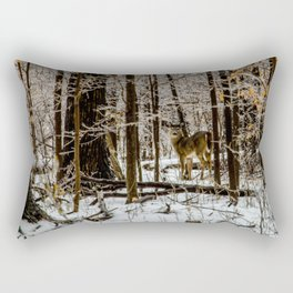 Deer in the Glistening Forest by Teresa Thompson Rectangular Pillow
